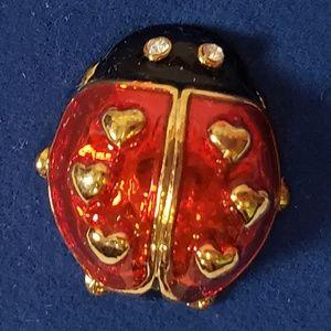 Avon Love Bug Tac Lapel Pin Ladybug 2005 NIB